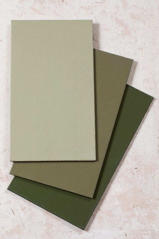 Den gröna kollektionen linoljefärg